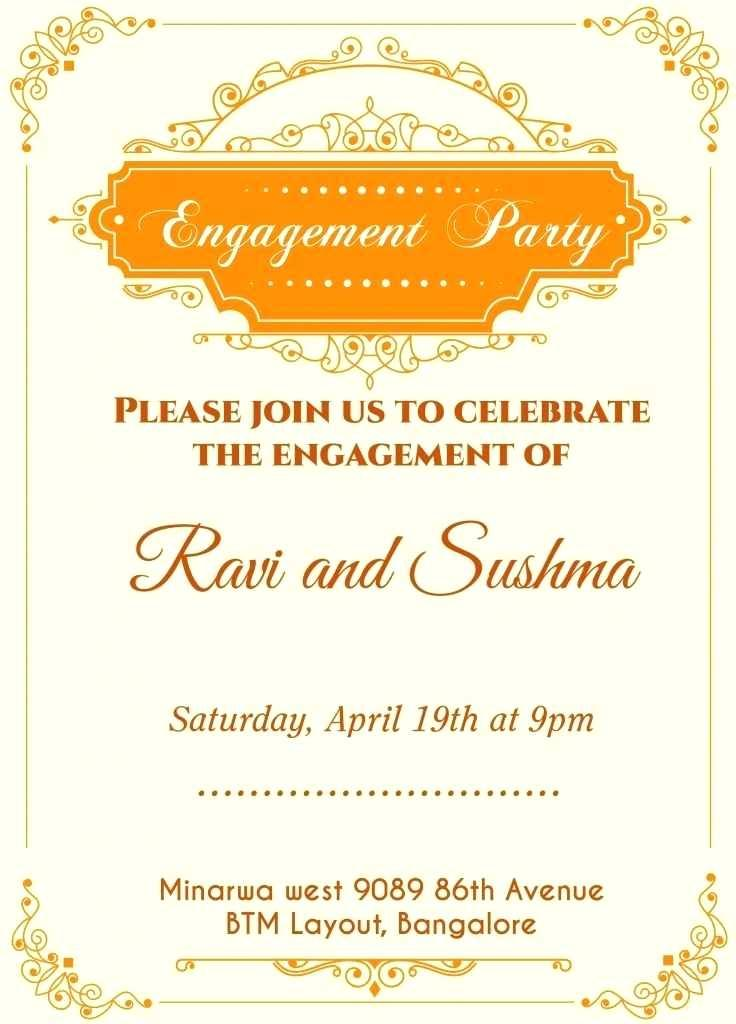 Engagement Invitations Card Templates