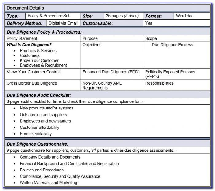 Enhanced Due Diligence Templates