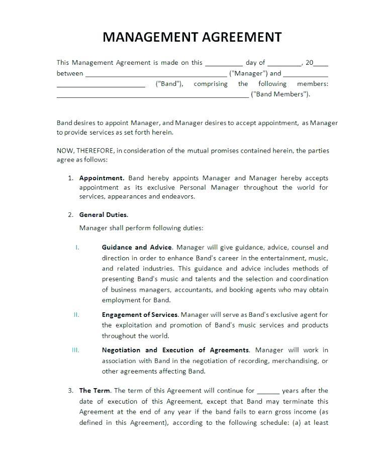 Entertainment Contract Template Free