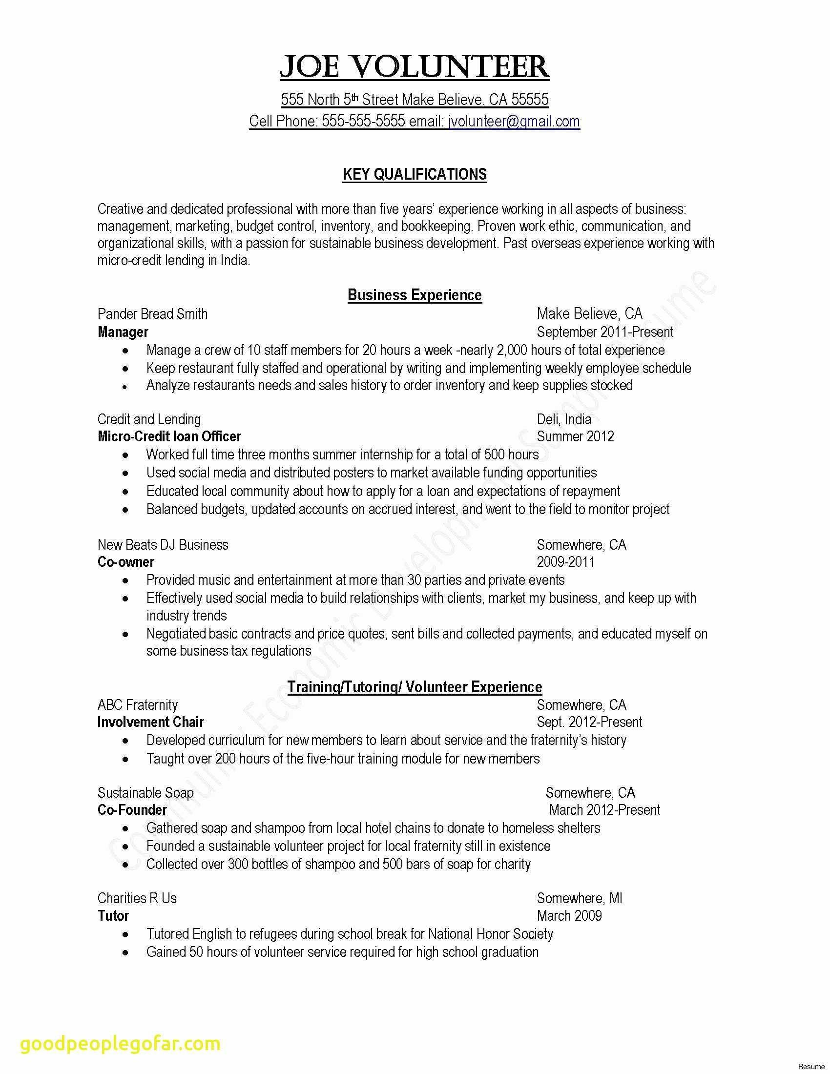 Entertainment Resume Template Free