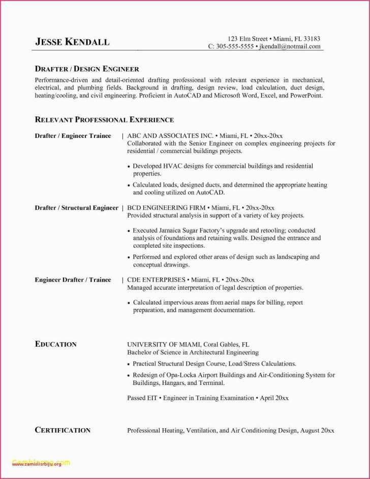 Entry Level Hvac Resume Templates
