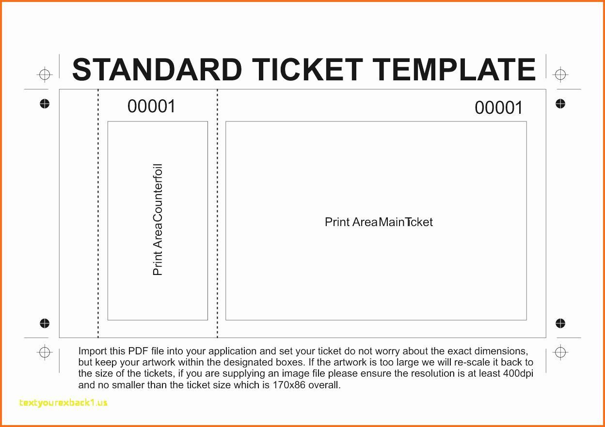 Entry Ticket Printable