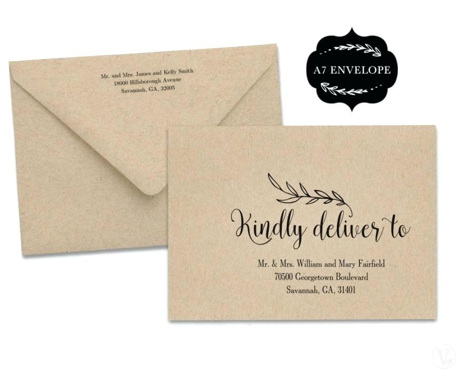 Envelope Label Template Excel