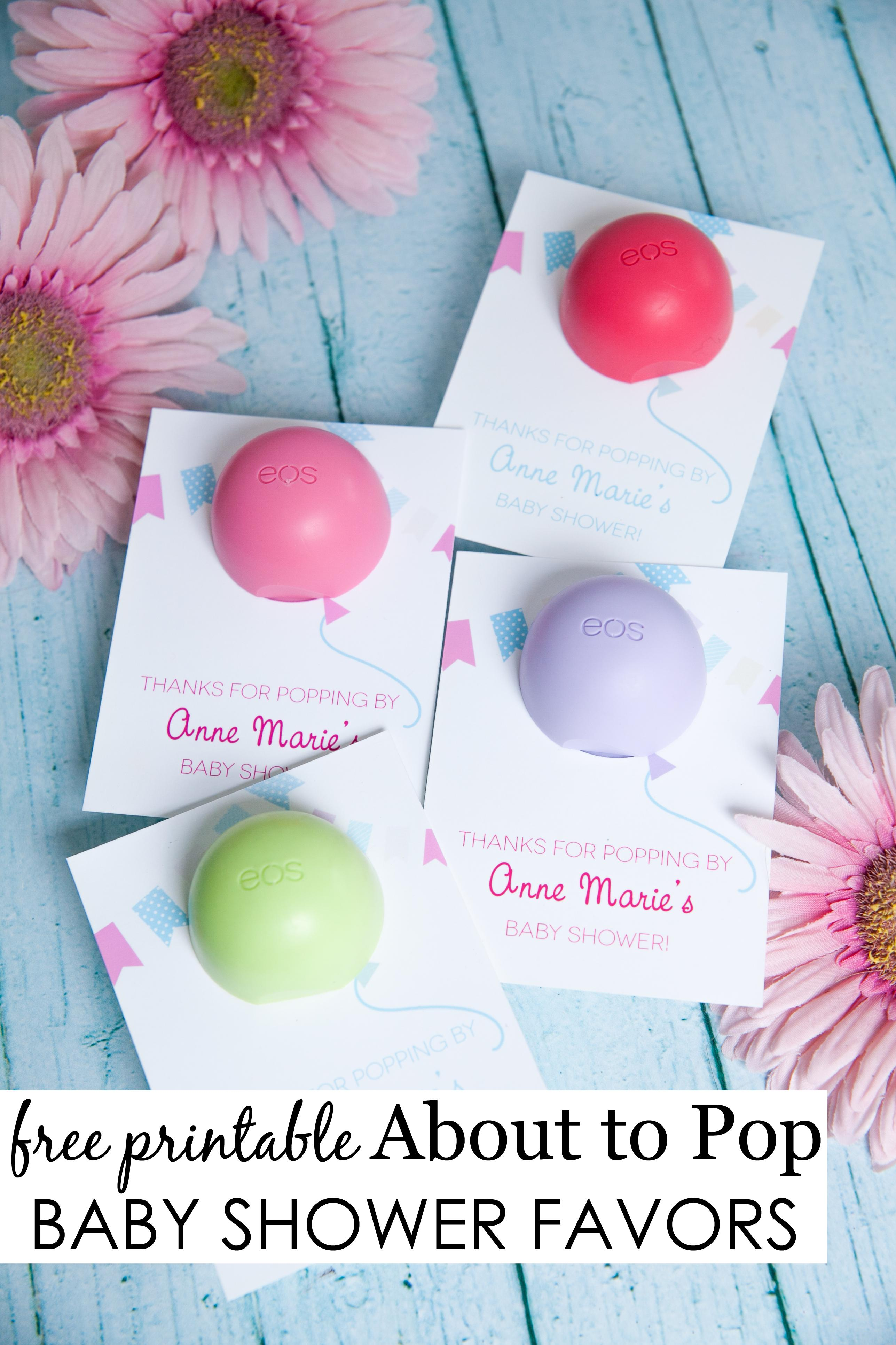 Eos Lip Balm Template Baby Shower