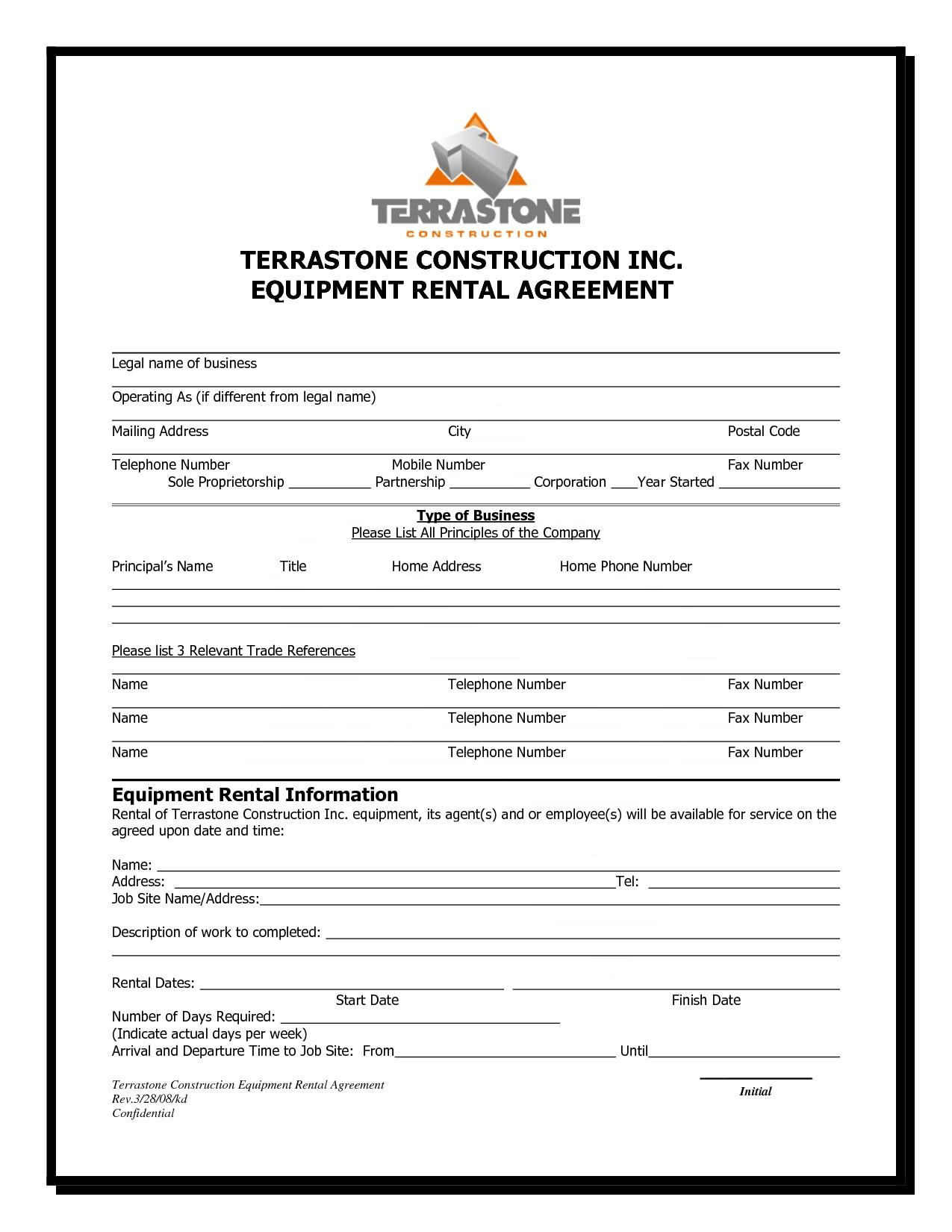 Equipment Lease Agreement Samples