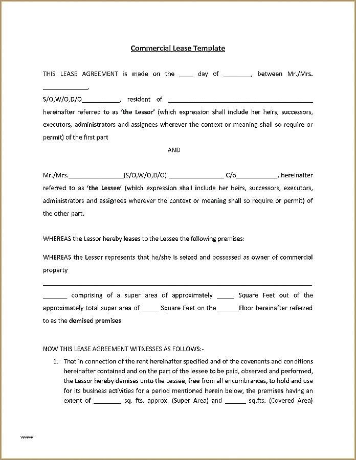 Equipment Lease Template Free