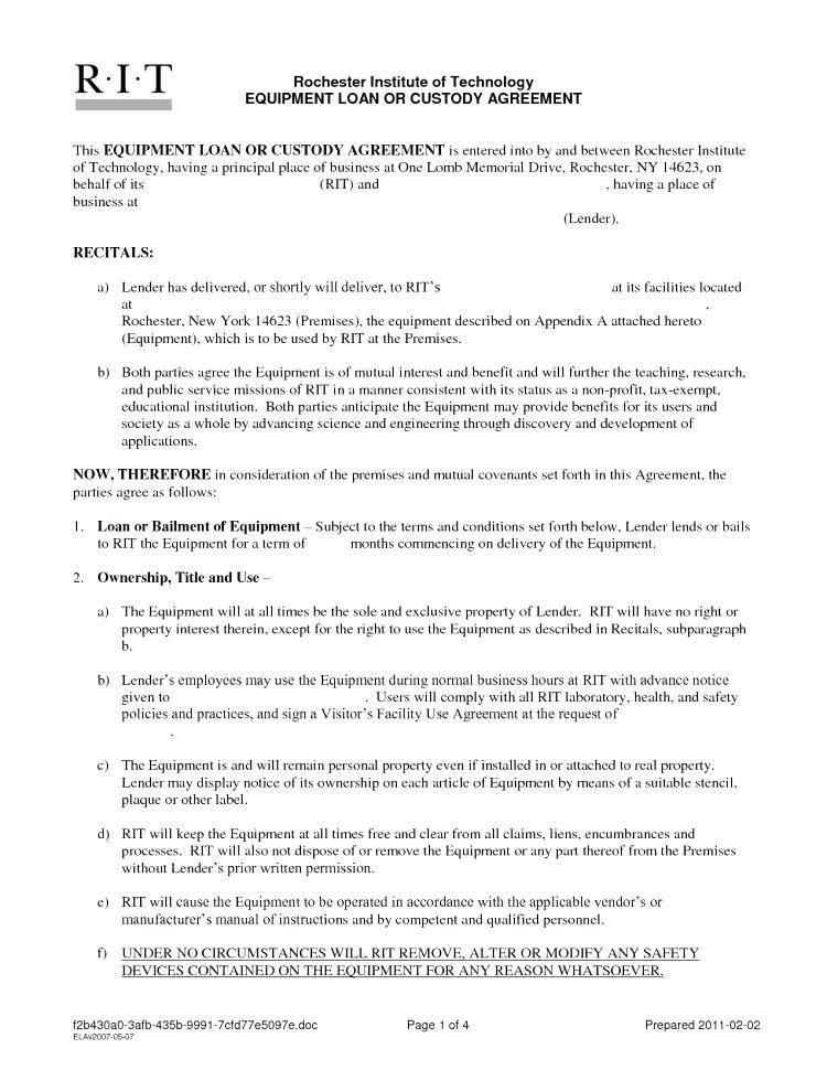 Equipment Maintenance Contract Template