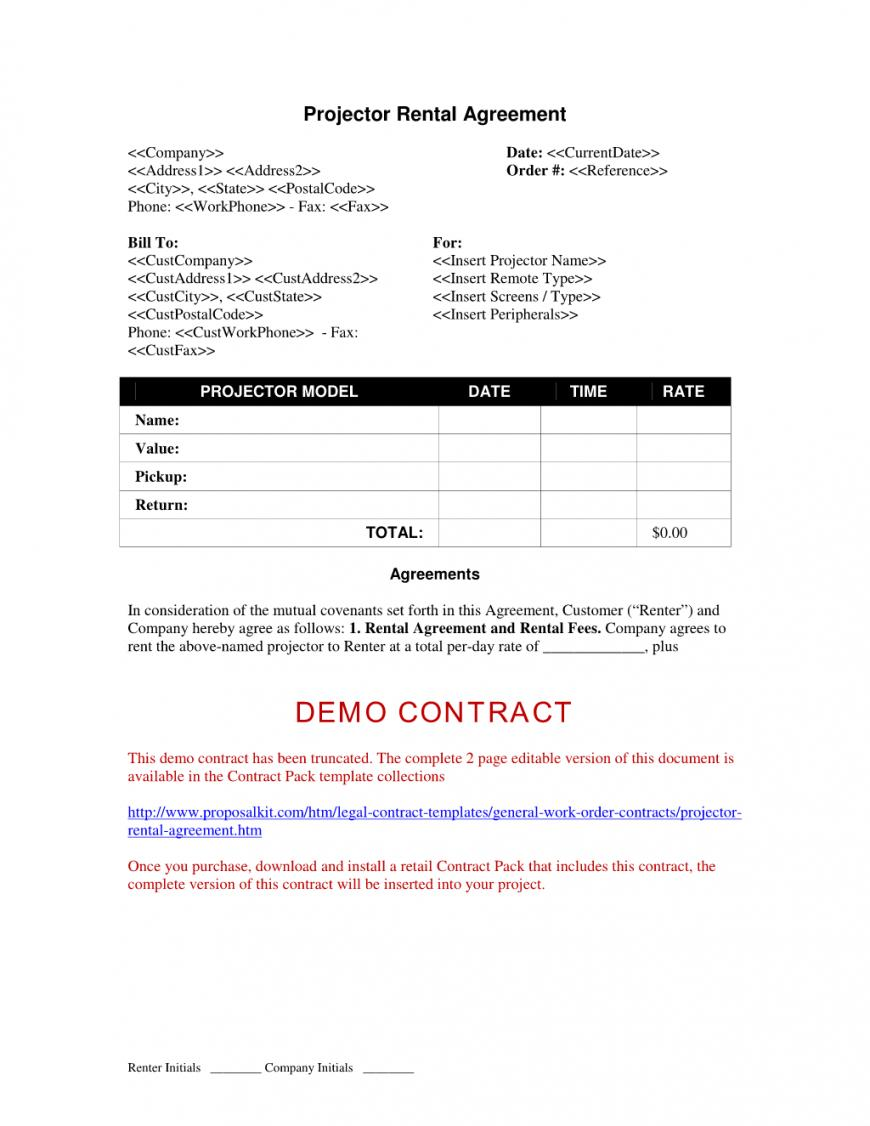 Equipment Rental Agreement Template Australia