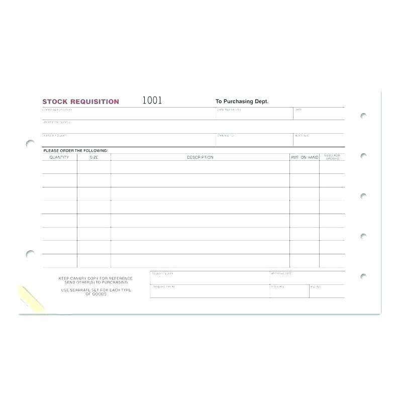 Equipment Requisition Form Template