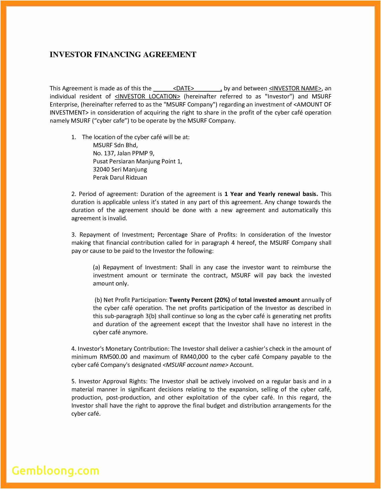 Equity Contribution Agreement Template
