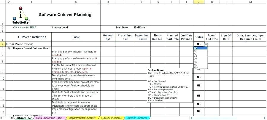 Erp Upgrade Project Plan Template