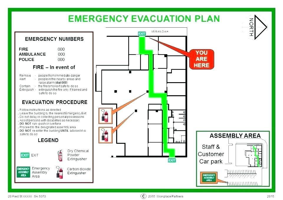Evacuation Floor Plan Example
