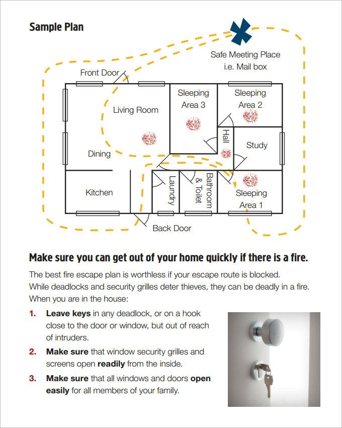 Evacuation Plan Example Home