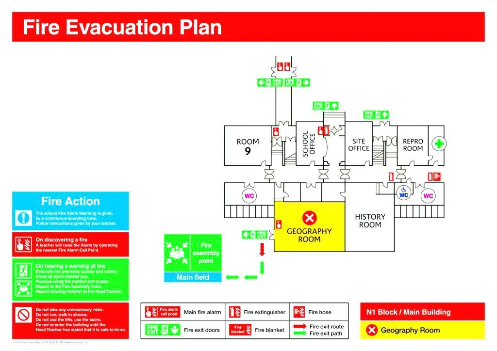 Evacuation Plan Template For Schools