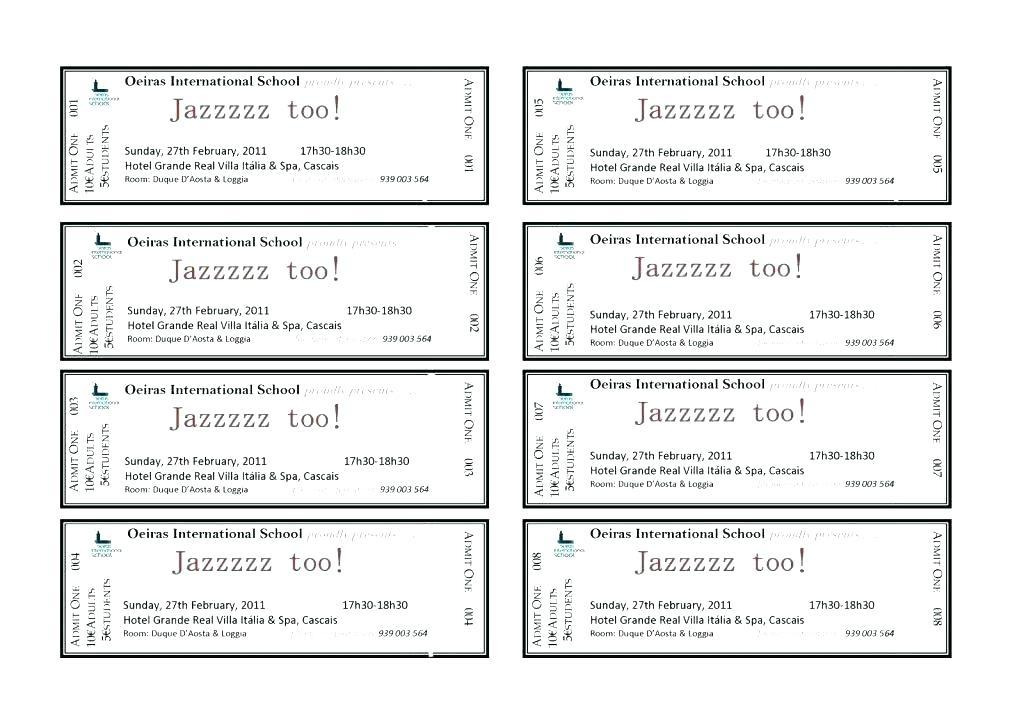 Event Entry Ticket Template