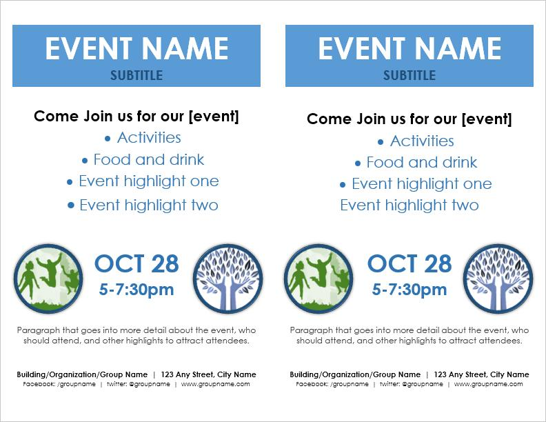 Event Flyer Template 2 Per Page