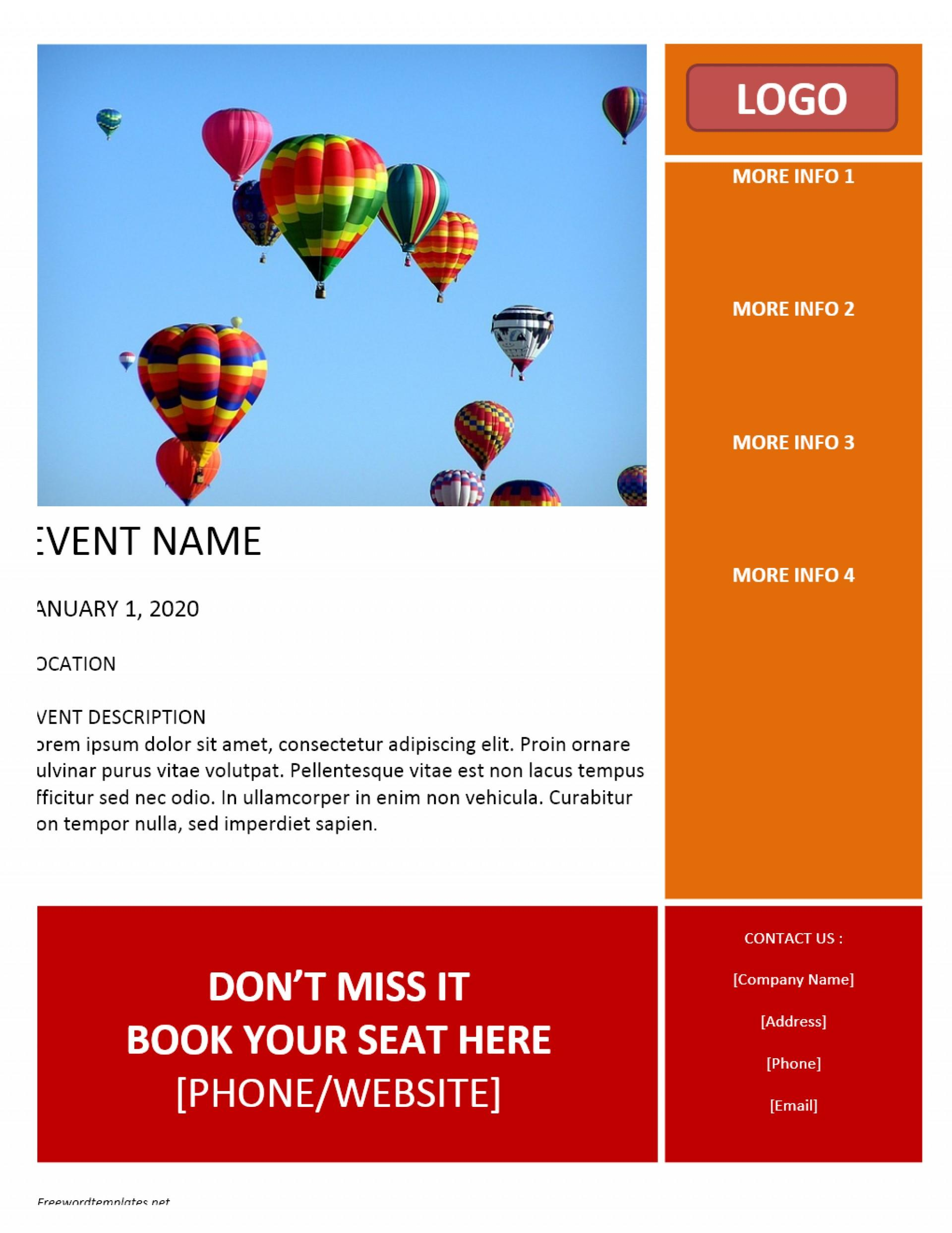 Event Flyers Templates Word Free