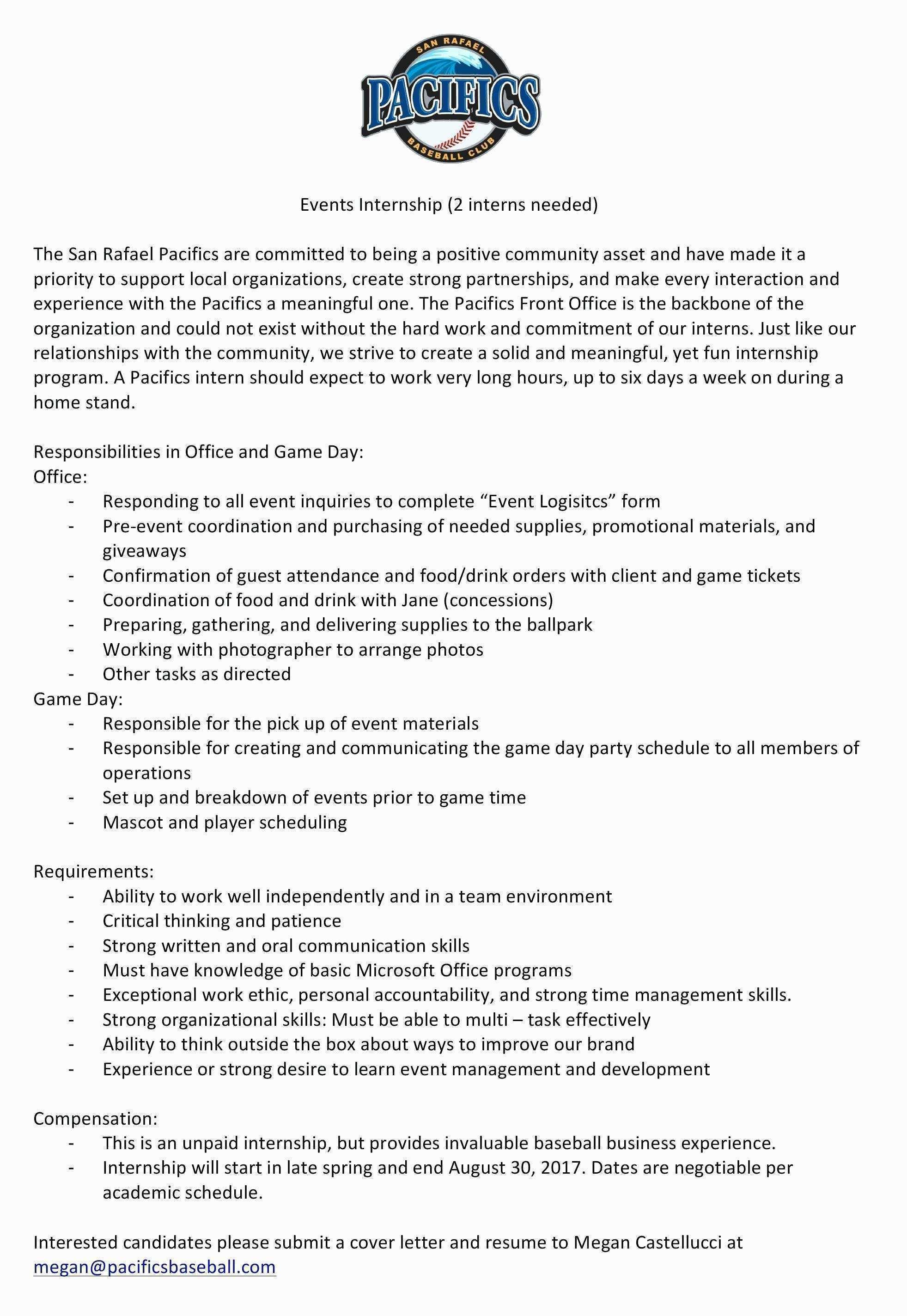 Event Management Resume Templates