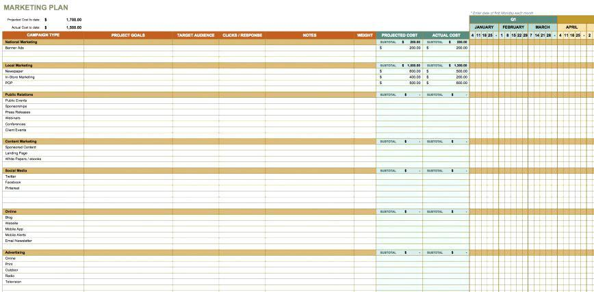 Event Marketing Plan Template Excel