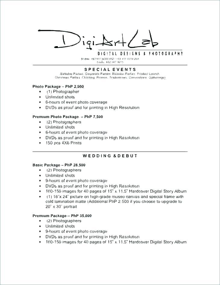 Event Photography Contract Doc