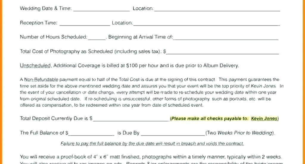Event Photography Contracts Templates