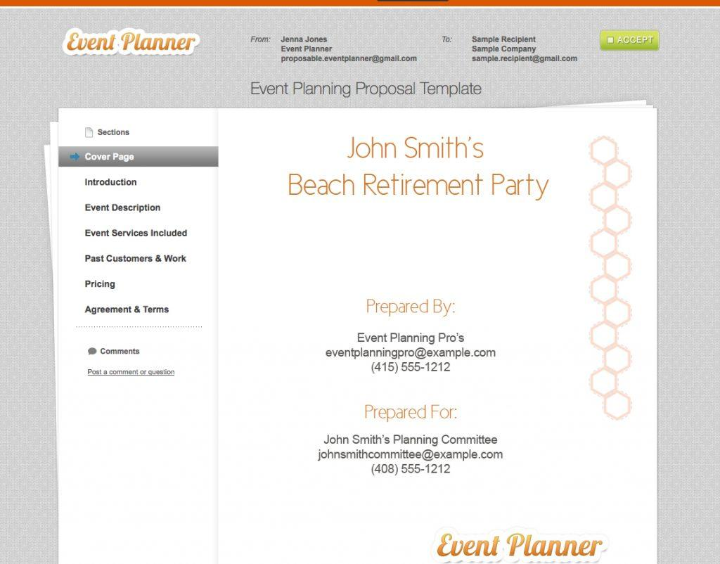 Event Planner Proposal Template Sample