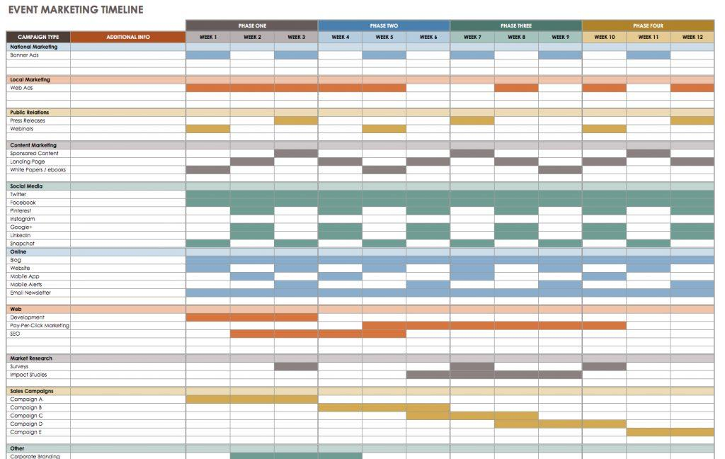 Event Scheduling Template Excel