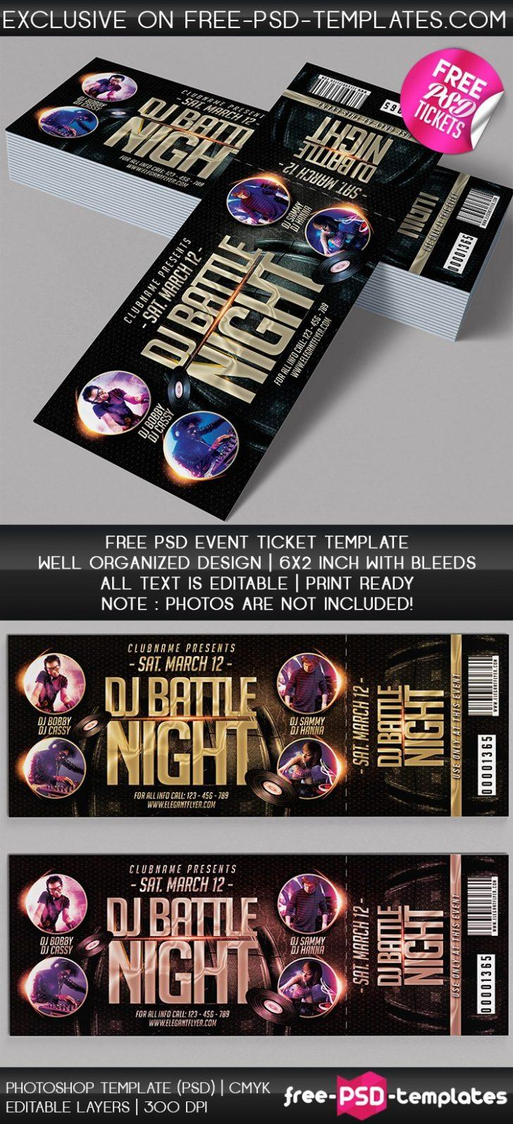 Event Ticket Template Free Download Psd