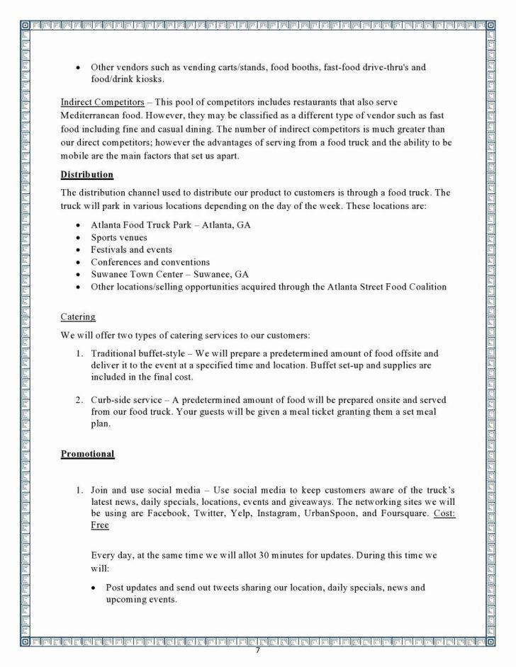 Events And Catering Business Plan Template