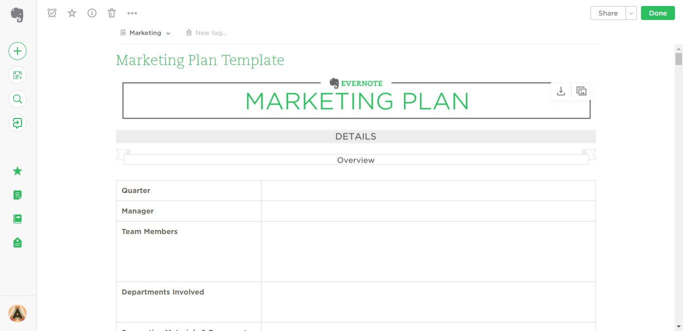 Evernote Project Management Templates