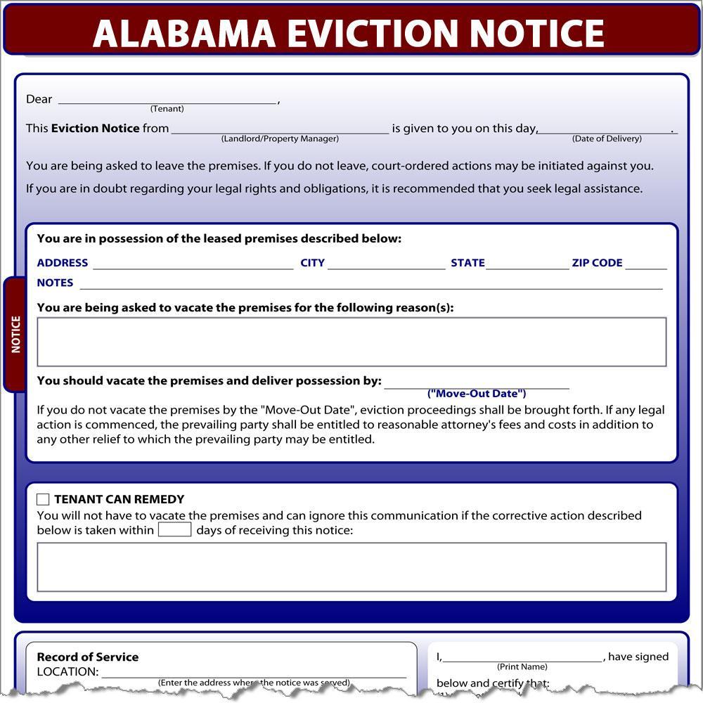 Eviction Notice Florida Template