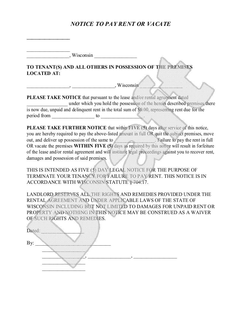Eviction Notice Template Free Download Uk