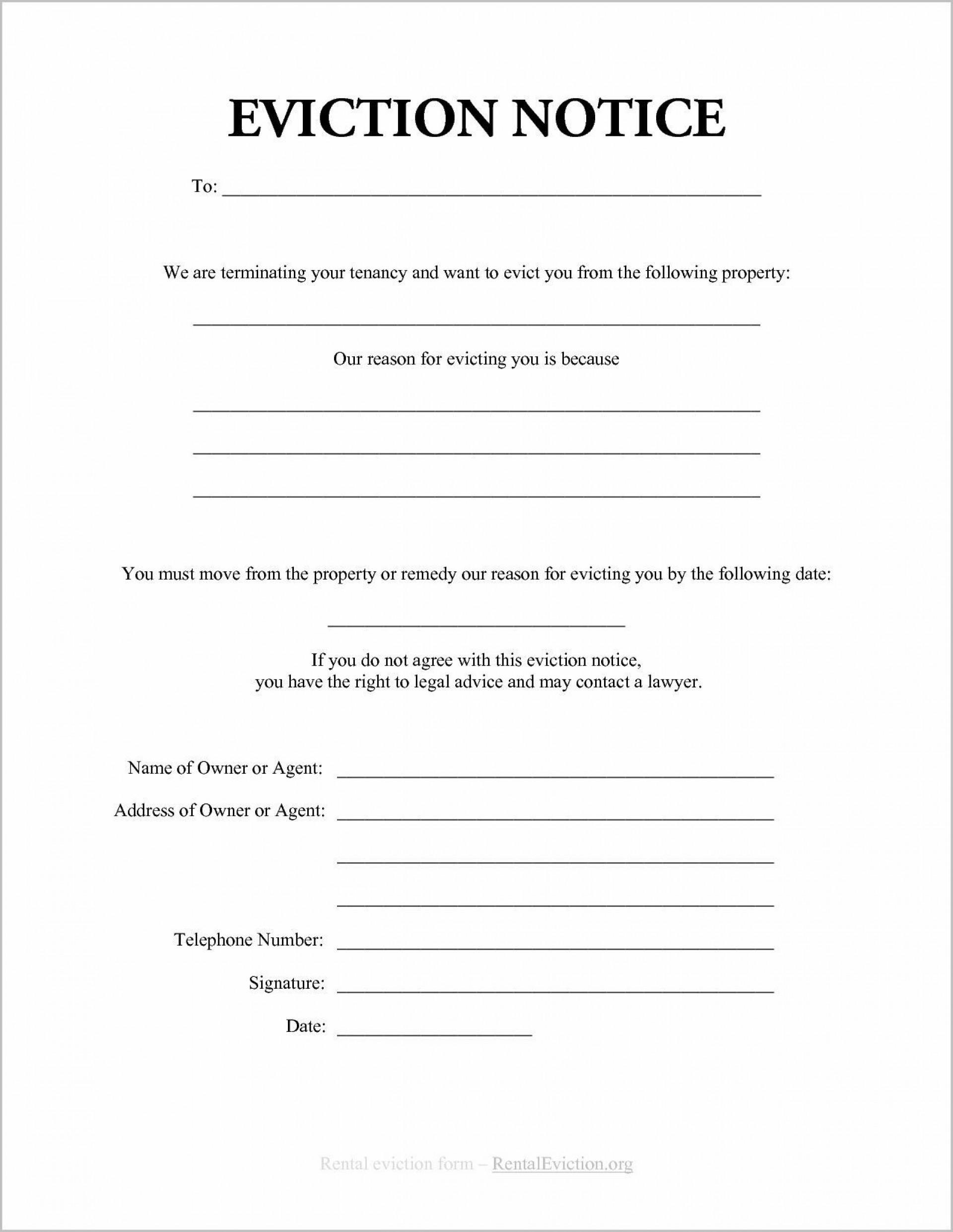Eviction Notice Template Word South Africa
