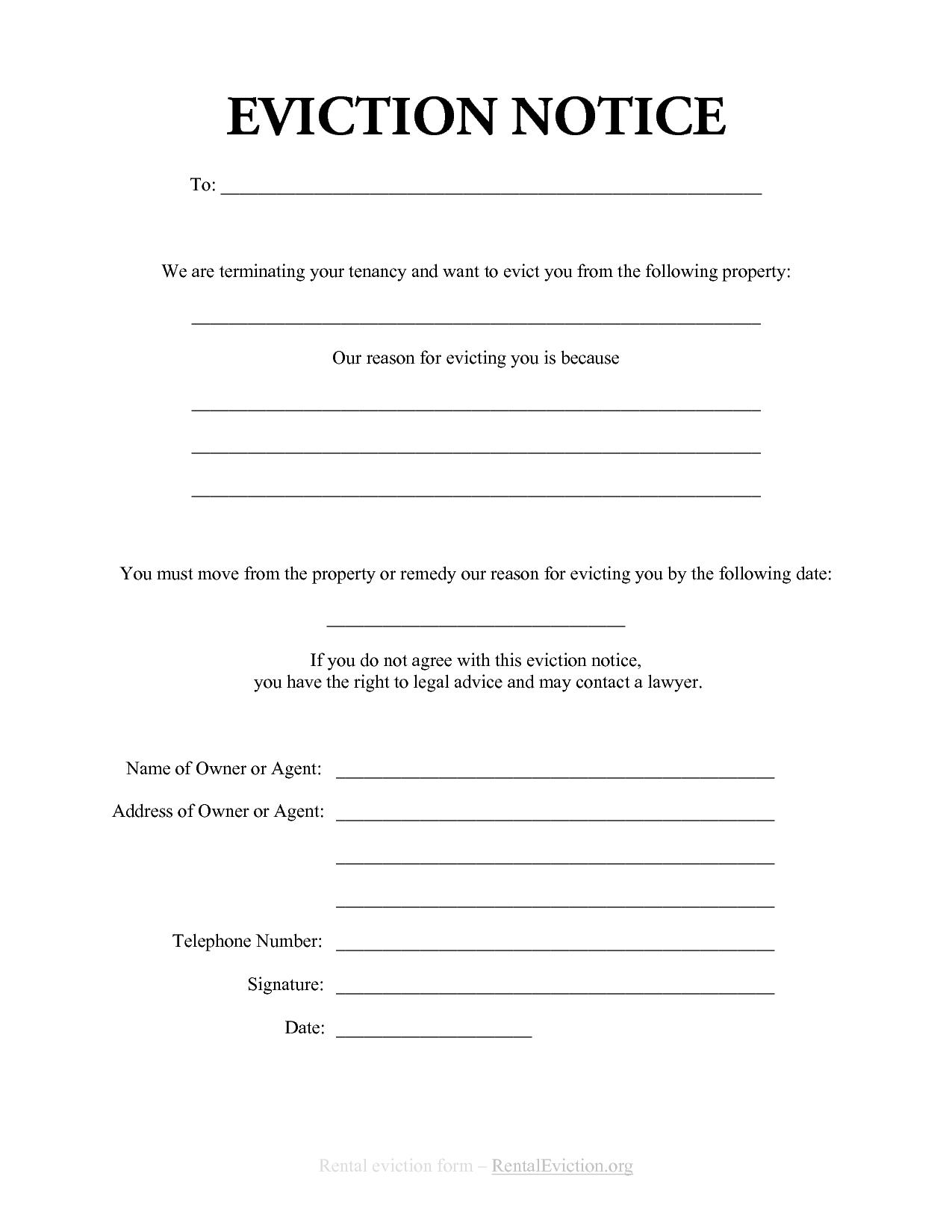 Eviction Warning Letter Template
