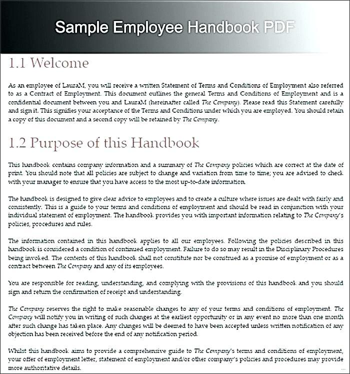 Example Employee Handbook For Small Business Uk