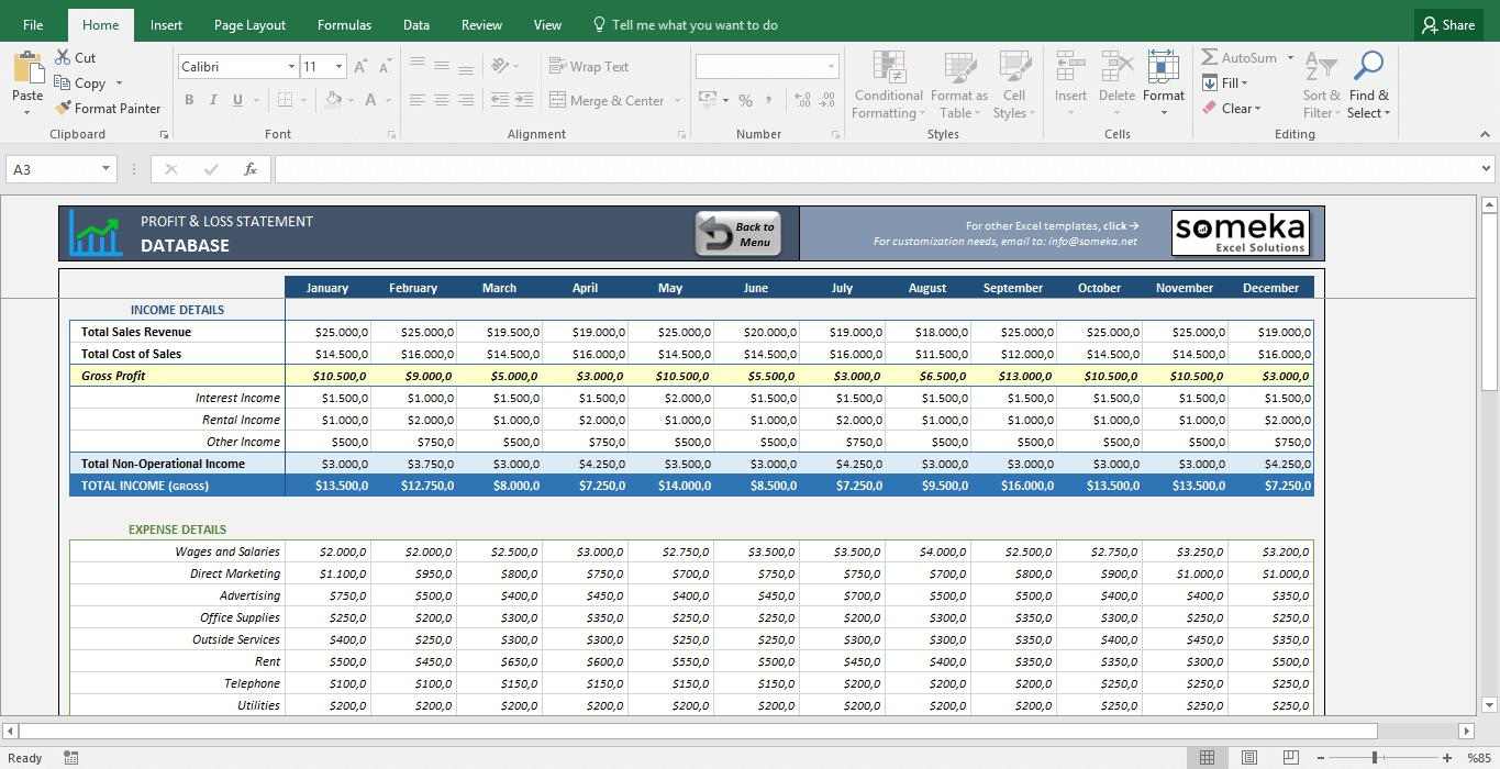 Example Of Profit And Loss Statement For Truck Drivers