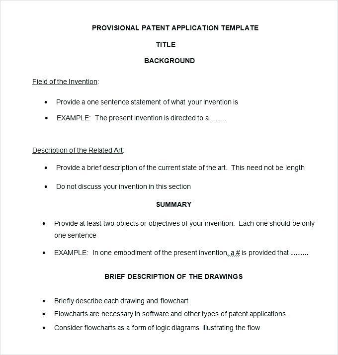 Example Patent Application Template