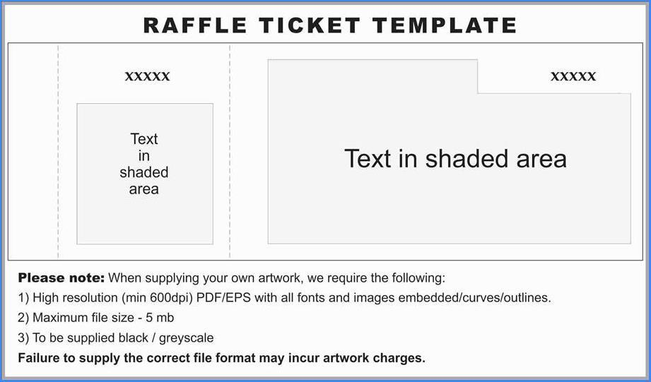 Example Raffle Ticket Template