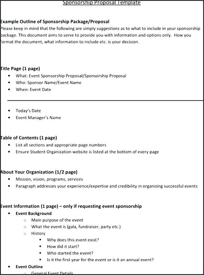 Example Sponsorship Proposal Powerpoint