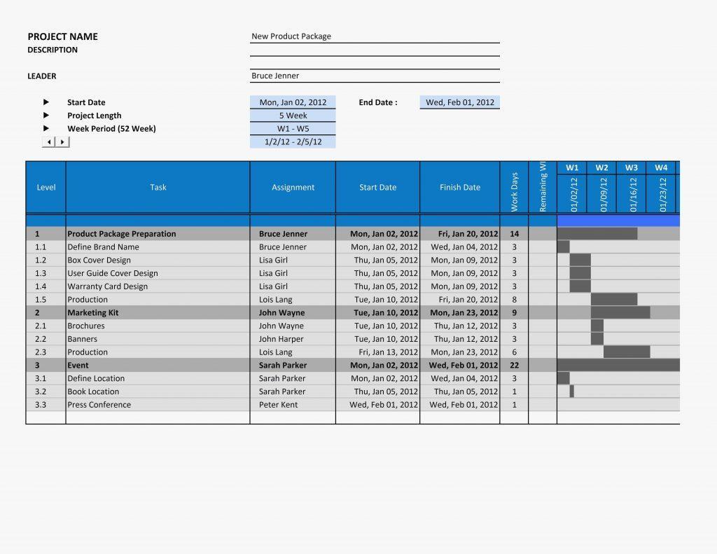 Excel 2010 Template Gantt Chart