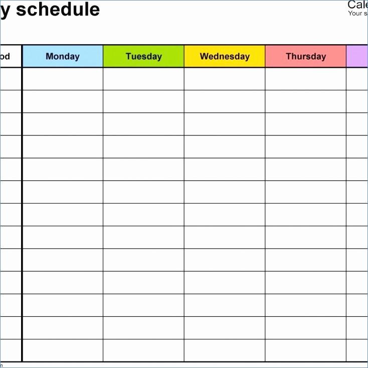 Excel 24 Hour Employee Schedule Template