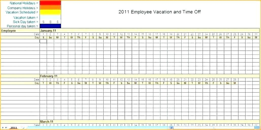 Excel Employee Monthly Work Schedule Template