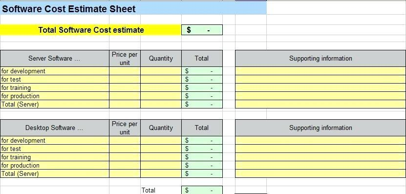 Excel Estimating Spreadsheet Templates