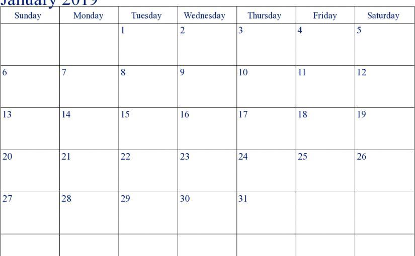 Excel File Calendar Template