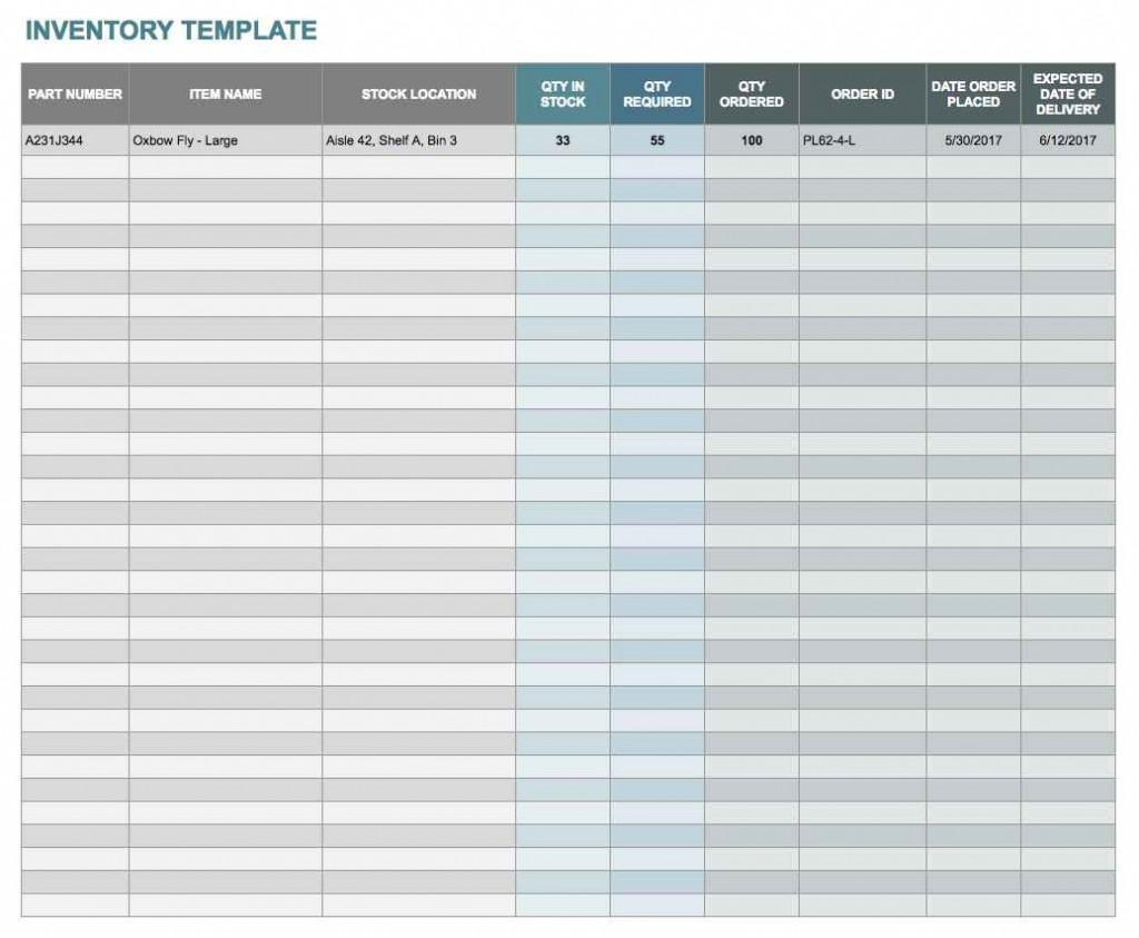 Excel Pantry Inventory Templates