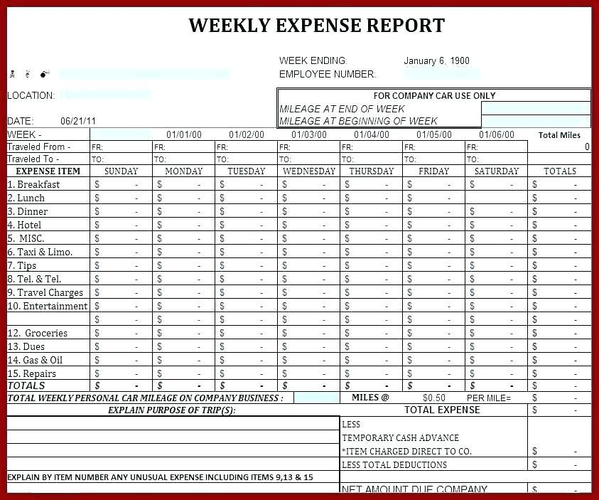 Excel Personal Expenses Template Uk