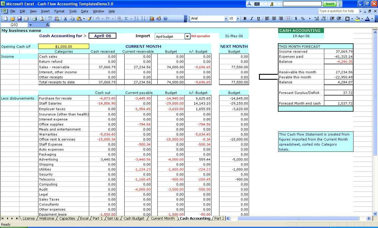 Excel Project Budget Tracking Template