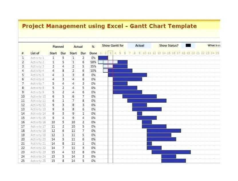 Excel Project Management Templates Gantt Chart