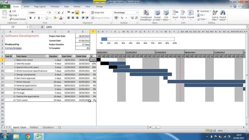 Excel Project Plan Template With Gantt Chart