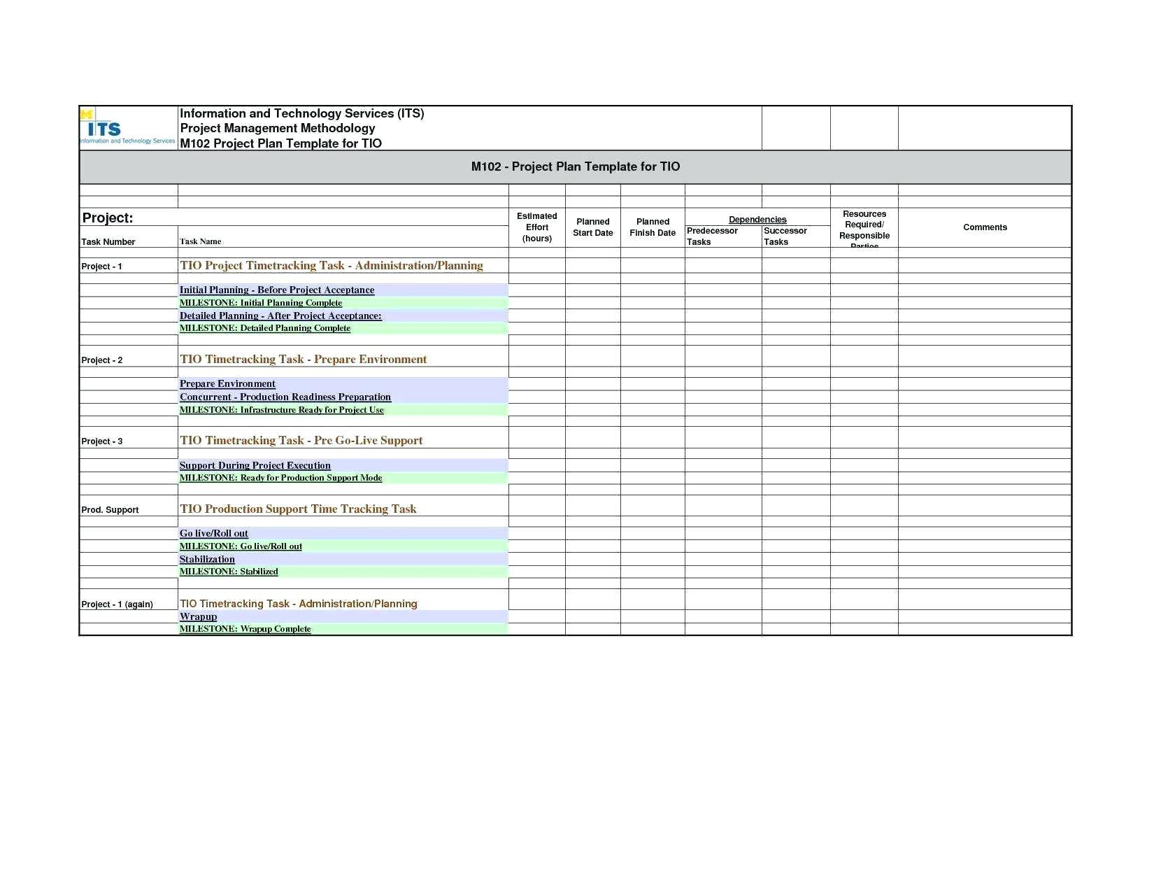 Excel Project Workflow Template